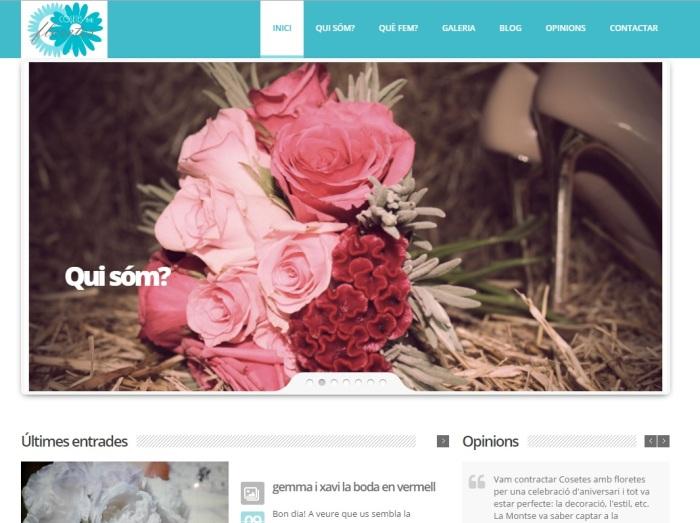 Imatge del lloc web de cosetes amb floretes