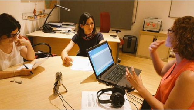 Nuria Parlon durant l'entrevista amb Gramenet Connecta